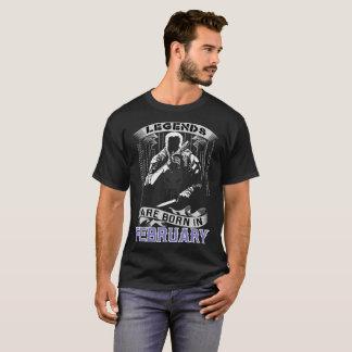 Legenden sind geborenes im Februar bestes T-Shirt