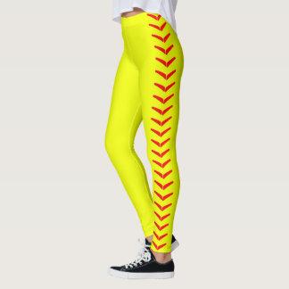 Leggings Pantalon jaune lumineux de guêtres du base-ball de