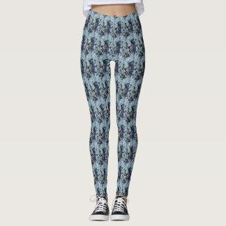 Leggings Papillons de gris bleu modelés