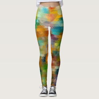 Leggings Pixelated a modelé des guêtres multicolores