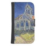 L'église à l'Auvers-sur-Oise Coque Avec Portefeuille Pour Galaxy S4