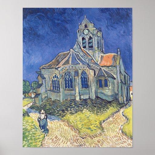 L'église à l'Auvers-sur-Oise Posters