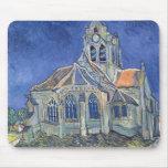 L'église à l'Auvers-sur-Oise Tapis De Souris