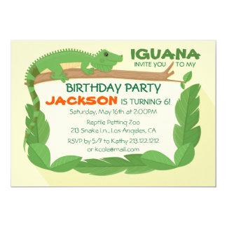 Leguan-Eidechsen-Reptil-Geburtstags-Einladung Karte