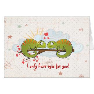 Leguane in der Liebe Karte