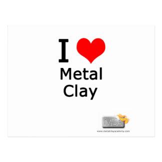 Lehm der Liebe I Metall Postkarte