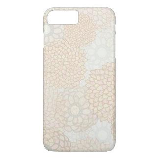 Lehm-und TAN-Blumen-Explosions-Entwurf iPhone 8 Plus/7 Plus Hülle