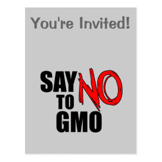 Lehnen Sie GMO ab Postkarte