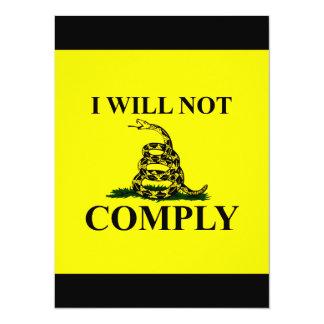 Lehnen Sie Kommunismus ab! 14 X 19,5 Cm Einladungskarte