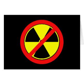 Lehnen Sie nukleare Power-und Strahlungs-T-Shirts Karte