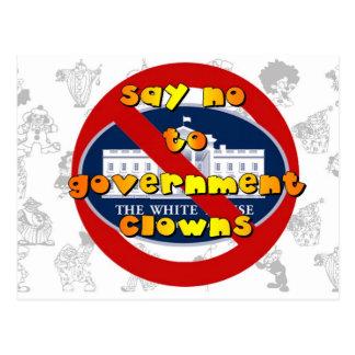 Lehnen Sie Regierungs-Clowns ab Postkarten