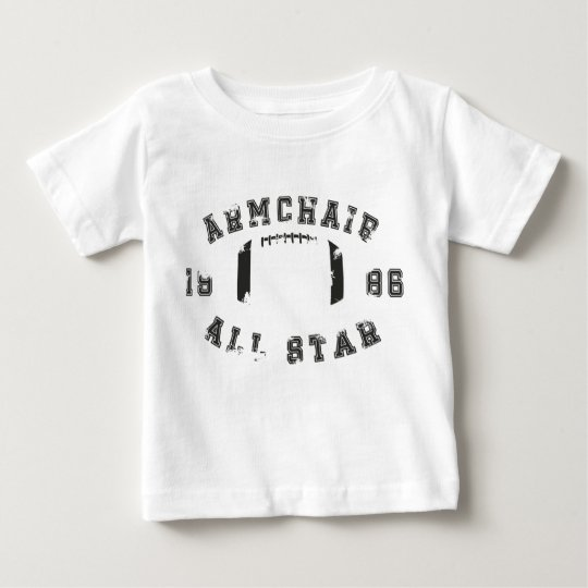 Lehnsessel-All Star-Fußball Baby T-shirt