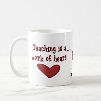 Lehrer-Anerkennungs-Herz-Tasse Kaffeetasse