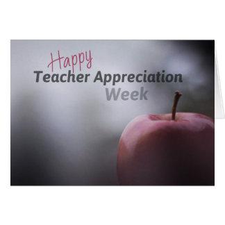 Lehrer-Anerkennungs-Wochen-Karten Karte