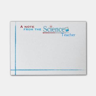 Lehrer für Wissenschafts-Post-Itanmerkungen Post-it Klebezettel
