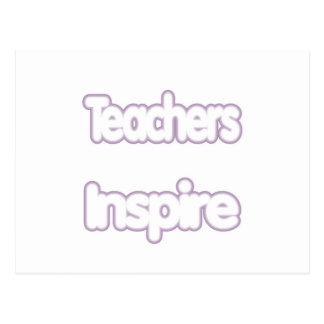 Lehrer inspirieren (geschwollen) postkarte