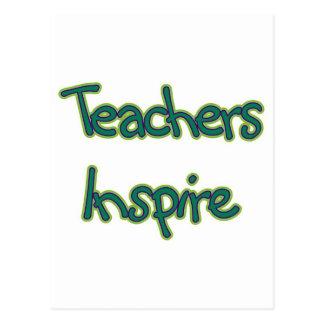 Lehrer inspirieren (Grün) Postkarte