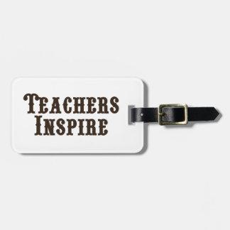 Lehrer inspirieren kofferanhänger