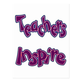 Lehrer inspirieren postkarte
