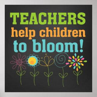 Lehrer-Klassenzimmer-inspirierend Zitat-Plakat Poster