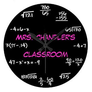 Lehrer-Klassenzimmer-Tafel-Mathe-Uhr - Gewohnheit Große Wanduhr