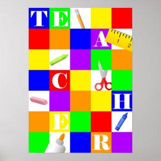 Lehrer-Plakat Poster