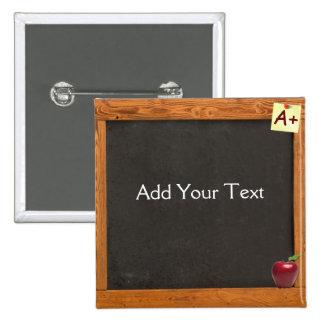 Lehrer-Tafel Quadratischer Button 5,1 Cm