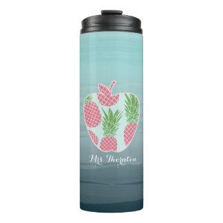 Lehrer-Trommel - Ombre Apple drucken Ananas Thermosbecher