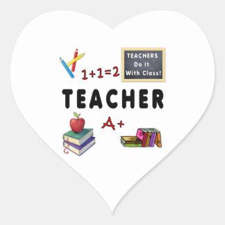 Lehrer tun es mit Klasse Herz-Aufkleber