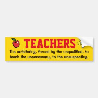 Lehrer und Prüfung Autoaufkleber