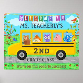 Lehrer-willkommenes Zeichen für Poster