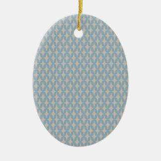 Leichte Retro vier Punkt-Sterne Bonnies Keramik Ornament