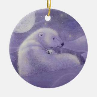 Leichter Winter-Eisbär und CUB-Verzierung Keramik Ornament