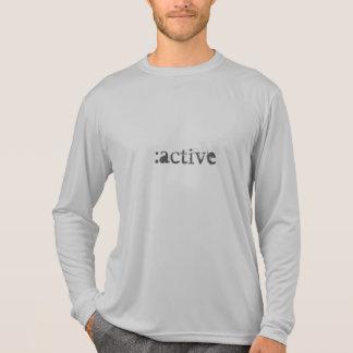 Leichtes, langes Hülsen-Fitness-Shirt T-Shirt