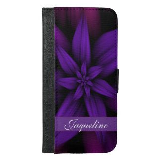 Leidenschaftliche lila Blume iPhone 6/6s Plus Geldbeutel Hülle