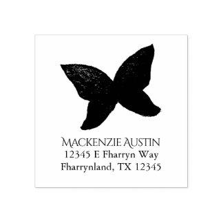 Leidenschaftliche Schmetterlings-Namen-Adresse des Gummistempel