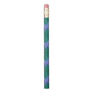 Leidenschaftliches lila blaues Schmetterlings-Grün Bleistifte 0