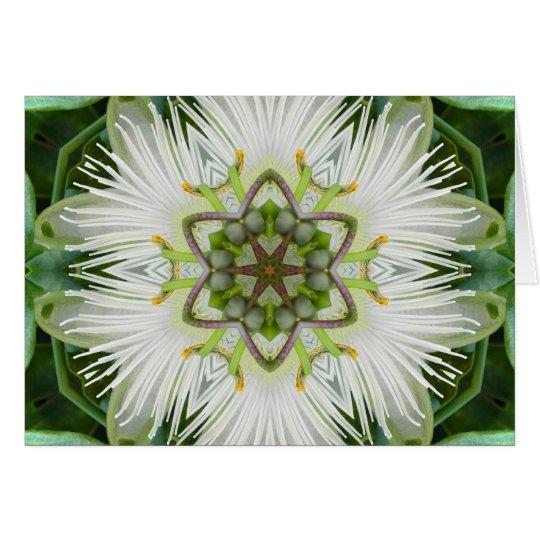 Leidenschafts-BlumeMandala Grußkarte
