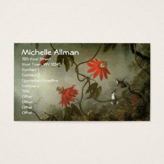 Leidenschafts-Blumen-und Kolibri-Geschäfts-Karten Visitenkarte