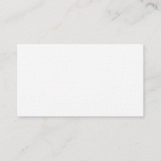 Leinenpapier Visitenkarten Visitenkarte
