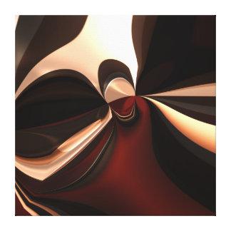 Leinwand-abstrakte Kunst-schokoladenbraune Sucht Leinwanddruck