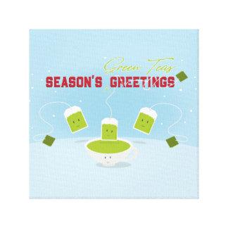Leinwand der Jahreszeit der grünen Tee-|