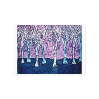 Leinwand-Druck der Bäume im Winter Leinwanddruck