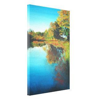 Leinwand-Druck der Michigan-Fluss-Acrylmalerei-| Leinwanddruck