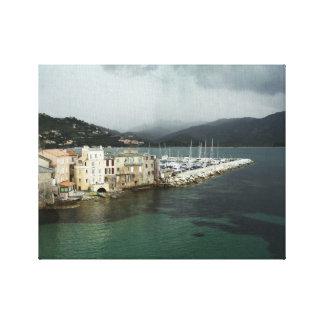 Leinwand-Druck - Heiliges-Florent, Korsika Gespannte Galeriedrucke