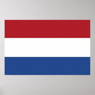 Leinwand-Druck mit Flagge von den Niederlanden Poster