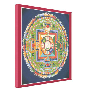 LEINWAND - Mandala von Buddha des Mitleids Gespannte Galerie Drucke