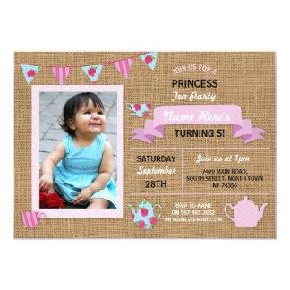 Leinwand-Prinzessin Tea Party Pink Birthday laden Karte