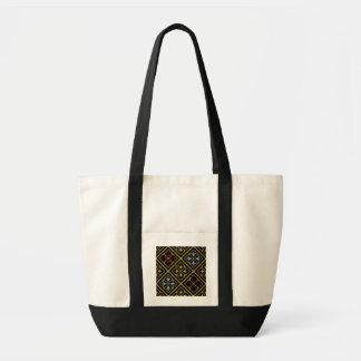Leinwand-Tasche mit Schwarz-und-Golddiamanten Tragetasche
