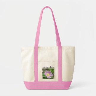 Leinwand-Taschen-Taschen-wildes Montana-Rosen-Rosa Impulse Stoffbeutel